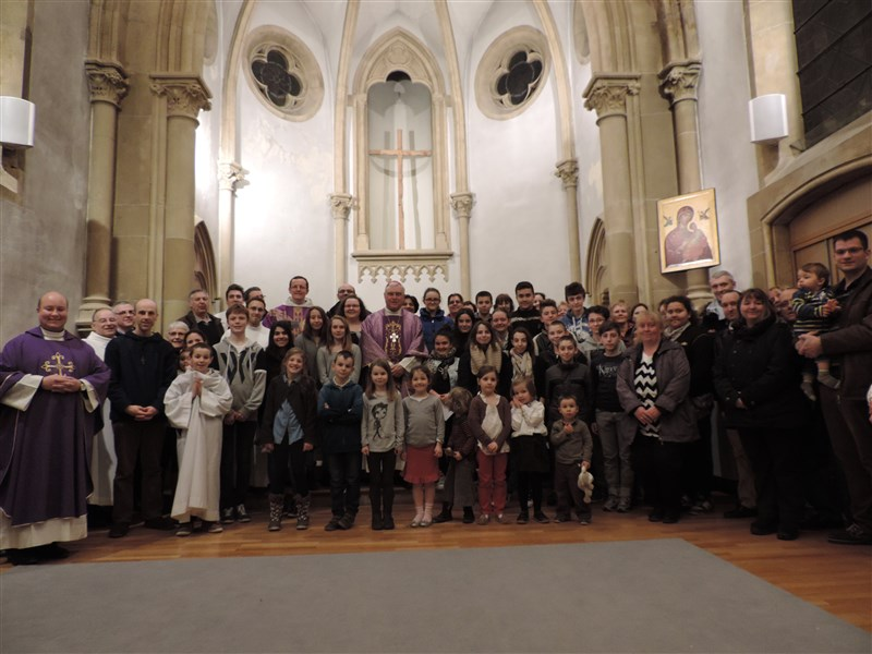 7 mars : Confirmands avec Mgr Lagleize